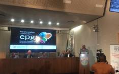 Officials, including Sports Minister Tokozile Xasa, present the 2017/18 Eminent Persons Group (EPG) status report. Picture: Philasande Sixaba/EWN.