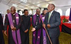 ANC President Cyril Ramaphosa attends a church service at the Methodist Church in Port Shepstone on 19 May. Picture: Xanderleigh Dookey/EWN.