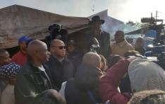 Police Minister Bheki Cele addresses Western Cape on a walk-about in Philippi East. Picture: SAPS.