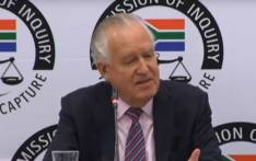A screengrab of British politician Peter Hain appearing at the Zondo commission of inquiry on 18 November 2019.