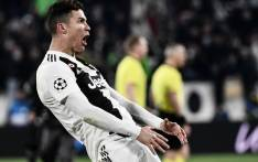 Juventus' Portuguese forward Cristiano Ronaldo celebrates after scoring 3-0 during the Uefa Champions League round of 16 second-leg football match Juventus vs Atletico Madrid on 12 March 2019 at the Juventus stadium in Turin. Picture: AFP