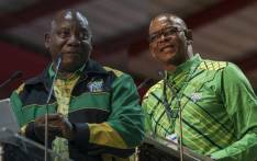 Cyril Ramaphosa and Ace Magashule. Picture: EWN.