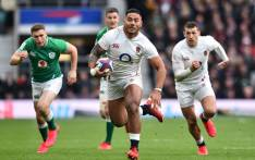 England's centre Manu Tuilagi (C) makes a break during the Six Nations international rugby union match between England and Ireland at the Twickenham, west London, on 23 February 2020. Picture: AFP