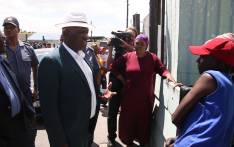 Cele visited the scene where two shootings took place over the weekend. He spoke to residents about the recent events before addressing community stakeholders. Picture: Bertram Malgas