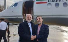 Iran's Foreign Minister Mohammad Javad Zarif (L) with Iranian scientist Massoud Soleimani (R) who was released in an apparent prisoner with the United States on 7 December 2019. Picture: @JZarif/Twitter.
