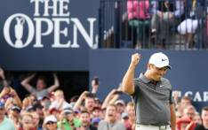 FILE: Francesco Molinari celebrates victory in the British Open at Carnoustie on 22 July 2018. Picture: @TheOpen/Twitter