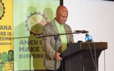 Amcu president Joseph Mathunjwa briefs the media on 14 June 2019 at the Hyatt Regency hotel, Johannesburg, where he outlined the union's demands for the upcoming wage negotiations in the platinum sector. Picture: @_AMCU/Twitter.