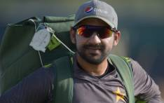 Pakistani cricket captain Sarfraz Ahmed arrives for a practice session at the Sheikh Zayed International Cricket Stadium in Abu Dhabi on 1 December 2018. Picture: AFP.