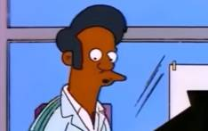 Apu Nahasapeemapetilon is the manager of the show's Kwik-E-Mart convenience store and a mainstay of the TV comedy, which recently celebrated its 30th year on air. Picture: YouTube Screengrab