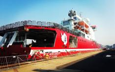 The 'SA Agulhas ll' docked in Durban Harbour. Picture: Shimoney Regter/EWN