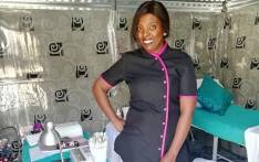 Thaini Masakane at shack-turned-spa in Botshabelo, Free state. Picture: Supplied.