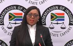A YouTube screengrab of State Security Agency evaluator Nokunqoba Dlamini testifying at the state capture commission on 19 February 2020.
