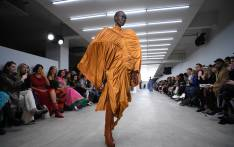 Models present creations by designer Richard Malone during a presentation for their Autumn/Winter 2020 collection on the first day of London Fashion Week in London on 14 February 2020. Picture: AFP