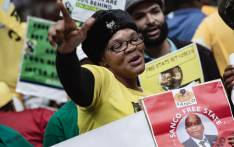 Jacob Zuma's supporters wait for his arrival at the OR Tambo Interbational Airport. Picture: Sethembiso Zulu/EWN