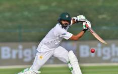 Pakistani cricketer Azhar Ali plays a shot during day two of the second Test cricket match in the series between Australia and Pakistan at the Abu Dhabi Cricket Stadium in Abu Dhabi on 17 October 2018. Picture: AFP