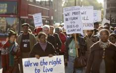 FILE: Chagos Islanders leave London's Houses of Parliament on 22 October 2008 when the British government won its appeal to Britain's highest court over previous rulings that allowed displaced Indian Ocean islanders to return home. Picture: AFP.