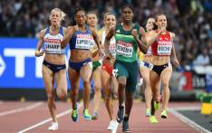 South Africa's Caster Semenya competes in the semi-final of the women's 800m athletics event at the 2017 IAAF World Championships at the London Stadium in London on 11 August 2017. Picture: AFP.