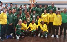 Banyana Banyana head coach Desiree Ellis, seen here with her team and other staff members on 10 January, won CAF Coach of the Year Award. Picture: @Banyana_Banyana/Twitter