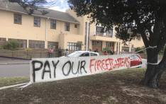 FILE: A small group of firefighters and supporters from across Cape Town, including Fish Hoek, Simon's Town and Hout Bay are picketing in front of Lakeside fire station. Picture: Monique Mortlock/EWN.