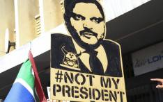 FILE: Many anti-Zuma protesters carried placards addressing the former president's alleged ties to the Gupta family during protests against corruption. Picture: EWN