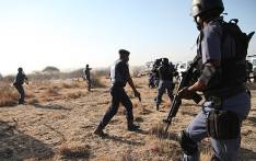 Police open fire at protesting workers at the Lonmin mine in Marikana, North West on 16 August, 2012. Picture: Taurai Maduna/Eyewitness News.
