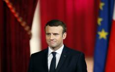 FILE: French President Emmanuel Macron listens during his formal inauguration ceremony as French President in the Salle des Fetes of the Elysee presidential Palace on 14 May 2017 in Paris. Picture: AFP.