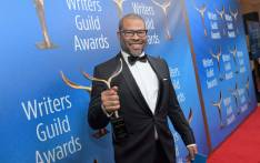 Writer/actor/director Jordan Peele poses with 'Original Screenplay' award for 'Get Out' during the 2018 Writers Guild Awards L.A. Ceremony at The Beverly Hilton Hotel on 11 February 2018 in Beverly Hills, California.Picture: AFP