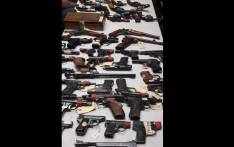 FILE: Hawks officials seized 92 firearms during an operation in Cape Town. Picture: SAPS