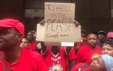 Numsa members striking over low wages in the plastic sector. Picture: @Numsa_Media/Twitter