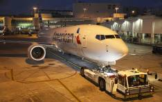 A grounded American Airlines Boeing 737 Max 8 is towed to another location at Miami International Airport on 13 March 2019 in Miami, Florida. Picture: AFP