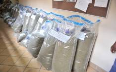 The Upington SAPS Crime Prevention and Crime Intelligence units followed up on information about drug trafficking on the N1 Road close to Upington. Picture: SAPoliceService/Facebook
