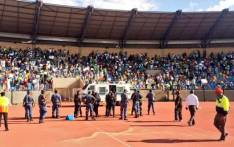 The Absa Premiership match between Bloemfontein Celtic and Cape Town City on 14 April 2019 was abandoned due to a pitch invasion. Picture: @Bloem_Celtic/Twitter