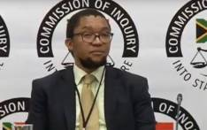 A screengrab of deputy director-general at the Department of Public Enterprises Kgathatso Tlhakudi appearing at the Zondo Commission of Inquiry.