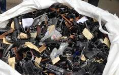 FILE: Illegal firearms. Picture: EWN