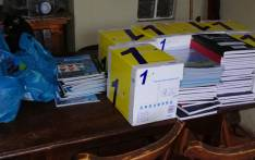 Some of the stationery donations collected by the Steenberg & Retreat news, ads & updates Facebook group. Picture: Facebook