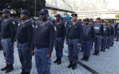 FILE: SAPS members on parade at the Cape Town train station during a visit by Police Minister Bheki Cele on 6 May 2019. Picture: Lauren Isaacs/EWN