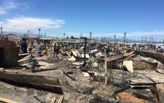 At least one person died after a fire broke out in Khayelitsha, Cape Town, in the early hours of Saturday morning on 20 October 2018. Picture: @NMakoba/Twitter