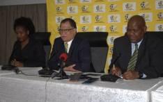 (C) Danny Jordaan and Safa acting CEO Gay Mokoena (R). Picture: Safa.net