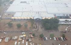 Long queues at a shopping centre in Ga-Rankuwa on 30 March 2020. Picture: Claude Oberholzer
