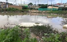 A flooded area in the Endolovini informal settlement in Khayelitsha. Picture: Kaylynn Palm/EWN