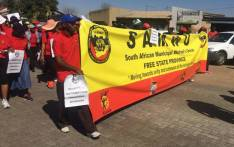 FILE: Samwu members during a protest march. Picture: Samwu Facebook page