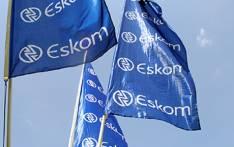 Eskom flags. Picture: EWN.