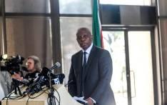 Heman Mashaba announces his resignation as Johannesburg mayor on 21 October. Picture: Kayleen Morgan/EWN