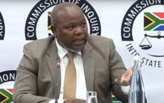 A screengrab of former prosecutions boss Mxolisi Nxasana giving testimony at the Zondo commission of inquiry on 19 August 2019.