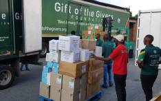 Gift of the Givers volunteers pack boxes of masks, gloves, gowns & disinfectants into trucks. The supplies will be taken to health facilities assisting patients and staff on the front lines of the fight against the spread of the coronavirus. Picture: @GiftoftheGivers/Twitter