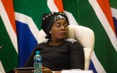 Minister of Tourism Mmamoloko Kubayi-Ngubane at an inter-ministerial briefing on 24 March 2020 detailing how government will respond ahead of and during the 21-day lockdown announced by President Cyril Ramaphosa. Picture: Kayleen Morgan/EWN.