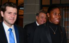 FILE: South Africa's 800 metres Olympic champion Caster Semenya (right) and her lawyer Gregory Nott (centre) leave a landmark hearing at the Court of Arbitration for Sport (CAS), in Lausanne, on 18 February 2019. Picture: AFP.