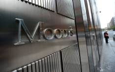 FILE: A Moody's sign stands in front of the company headquarters in New York. Picture: AFP.