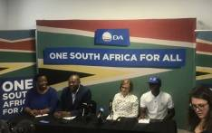 DA leaders briefs the media following Helen Zille's announcement as the new Federal Council chair. Picture: EWN