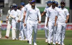 India's captain Virat Kohli (C) walks from the field with his team after losing the match to New Zealand during day four of the first Test cricket match between New Zealand and India at the Basin Reserve in Wellington on 24 February 2020. Picture: AFP